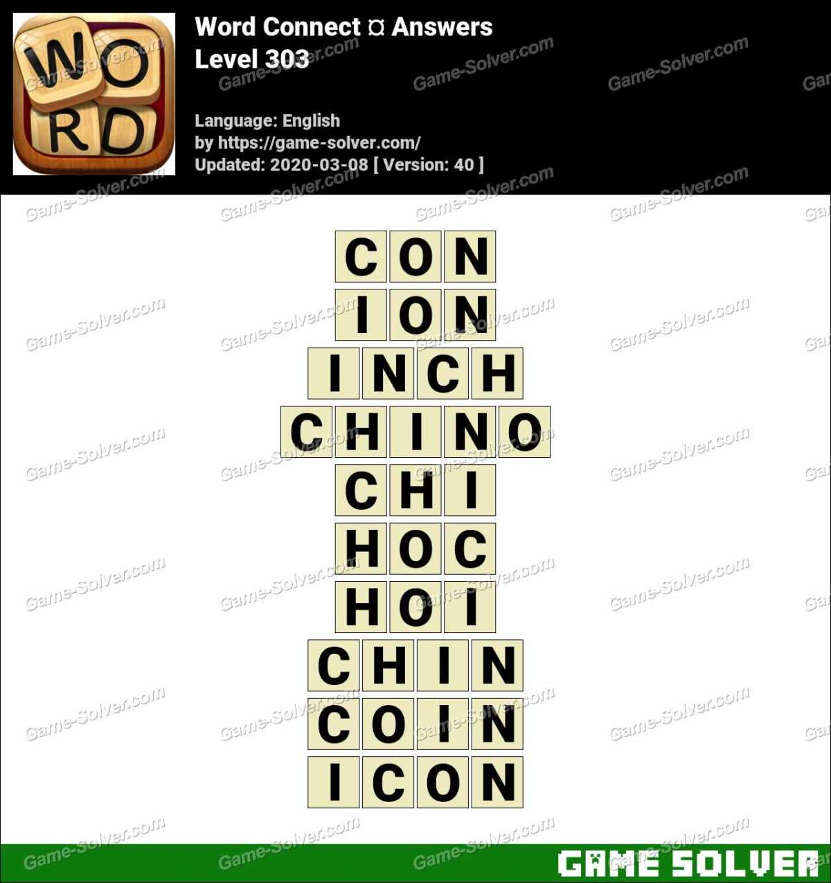 Word Connect Level 303 Answers