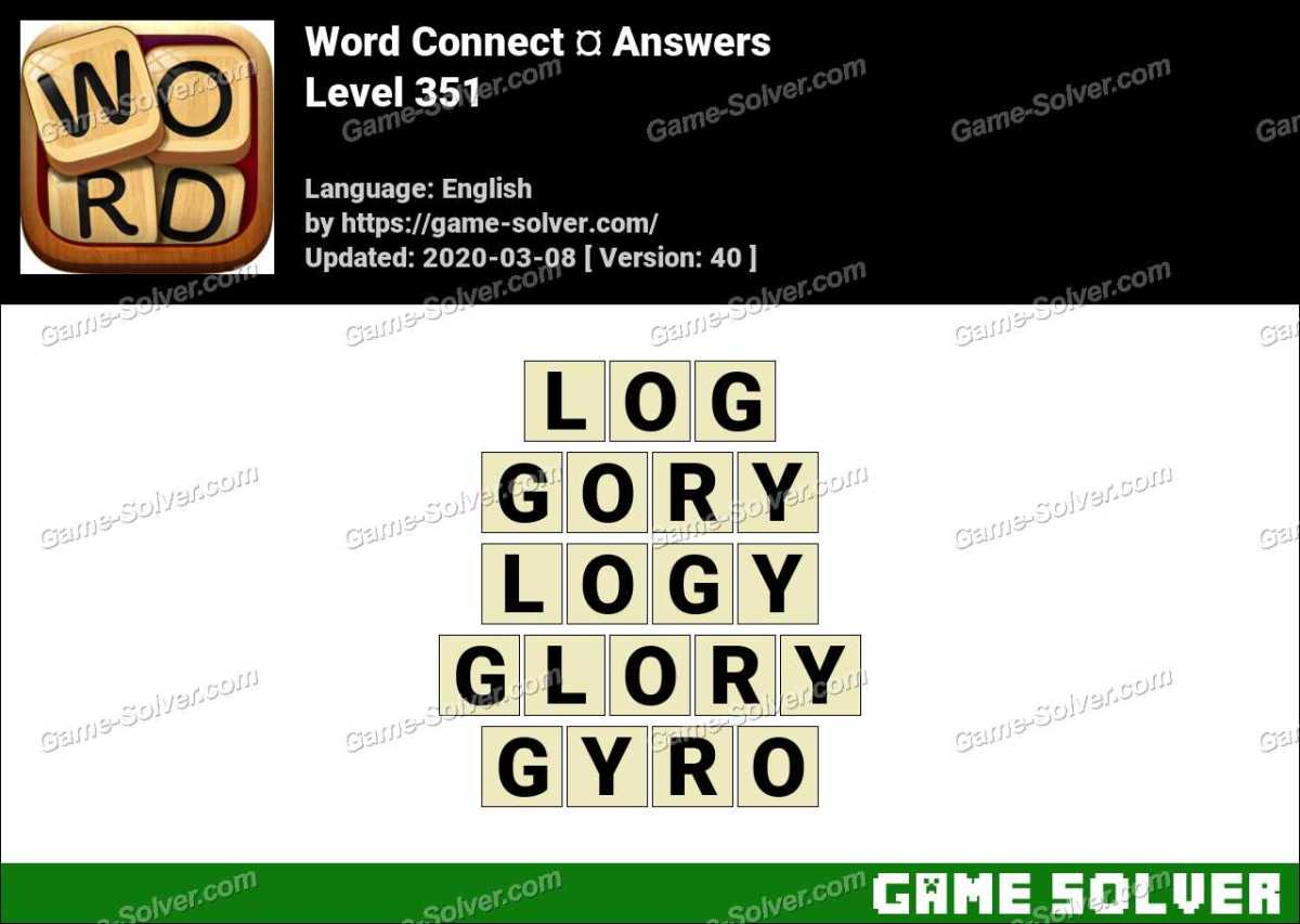 Word Connect Level 351 Answers