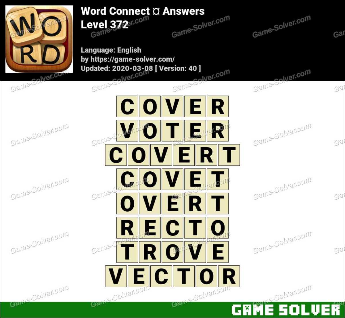 Word Connect Level 372 Answers