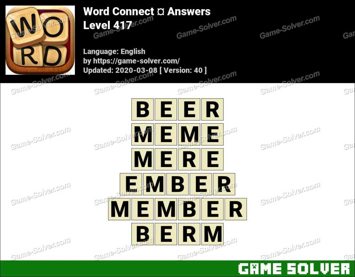 Word Connect Level 417 Answers