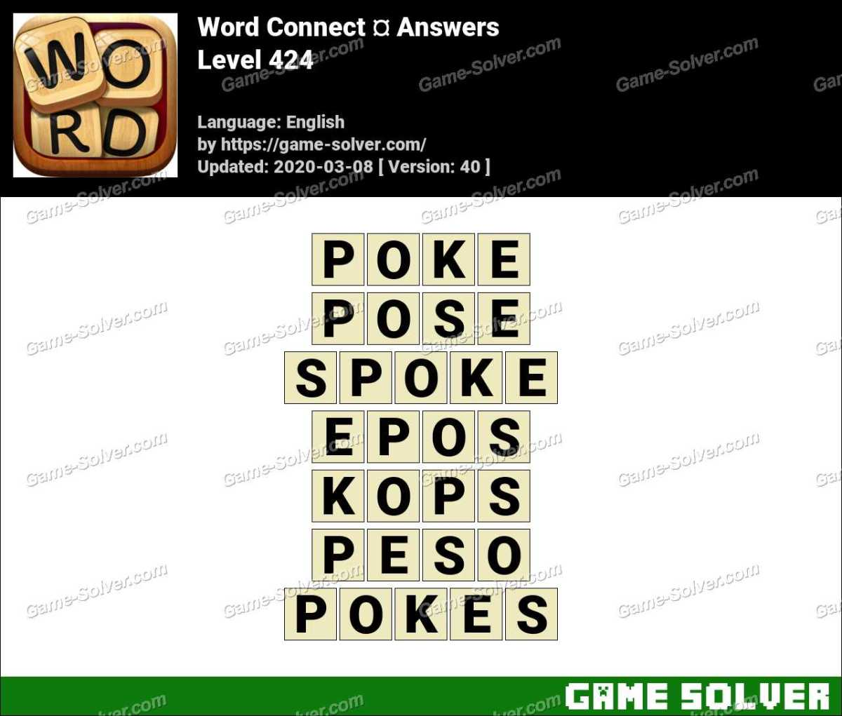 Word Connect Level 424 Answers