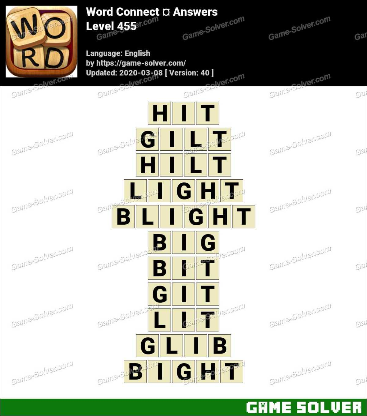 Word Connect Level 455 Answers