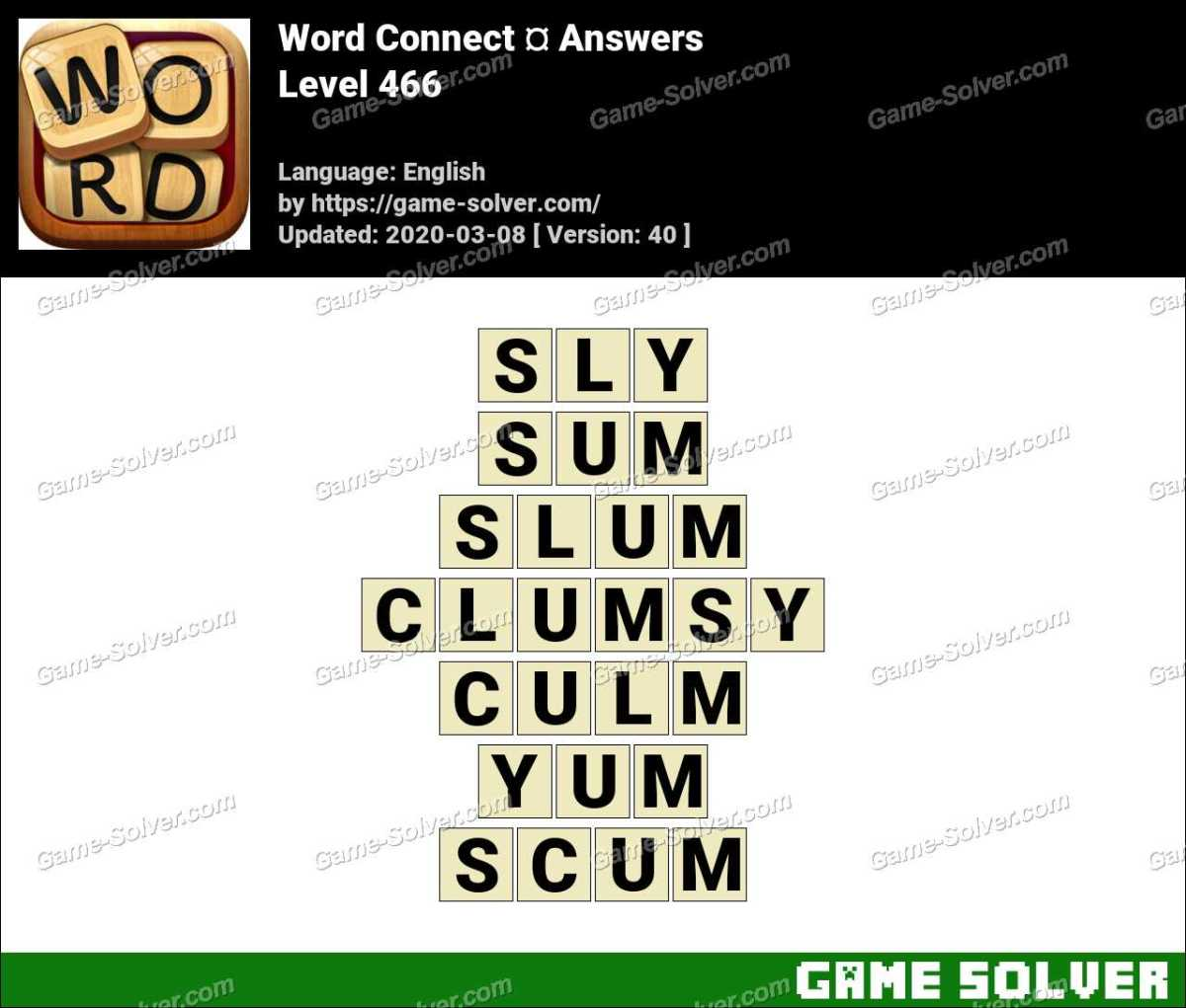 Word Connect Level 466 Answers