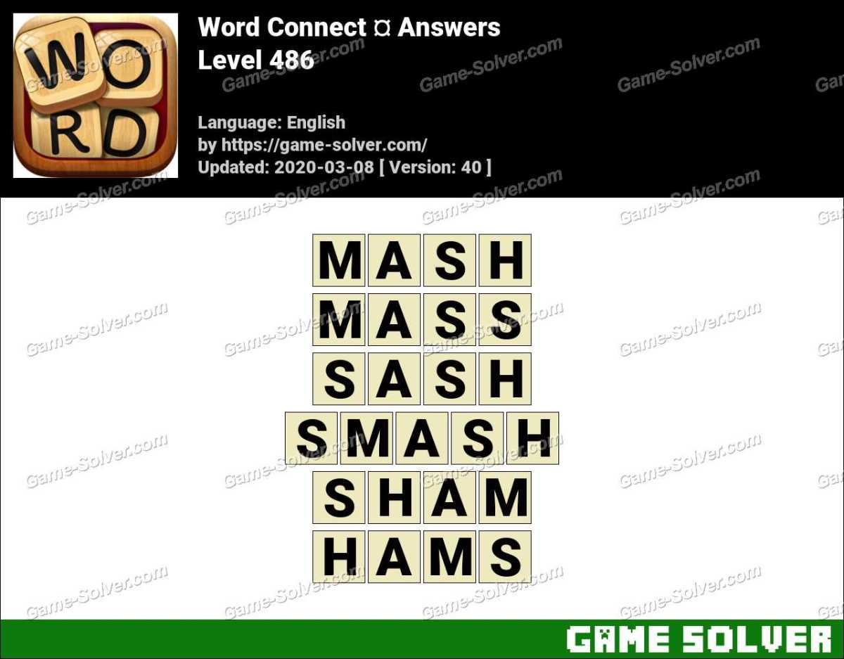 Word Connect Level 486 Answers