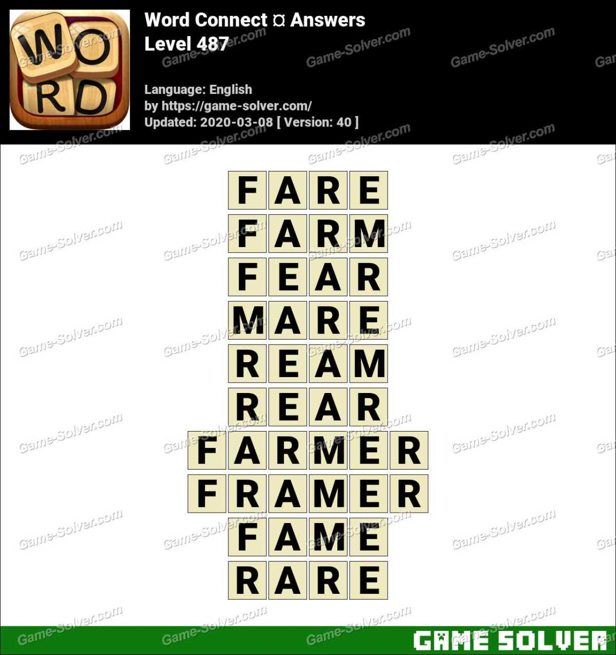 Word Connect Level 487 Answers