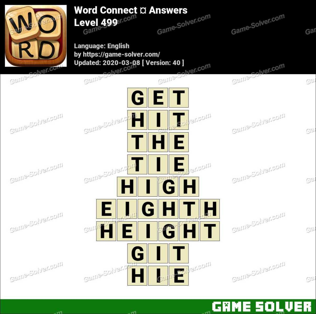 Word Connect Level 499 Answers