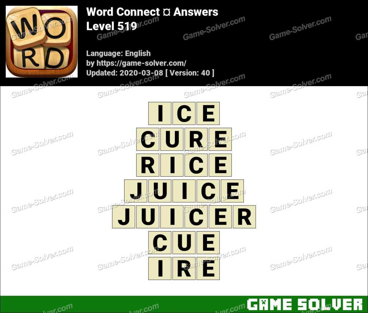 Word Connect Level 519 Answers