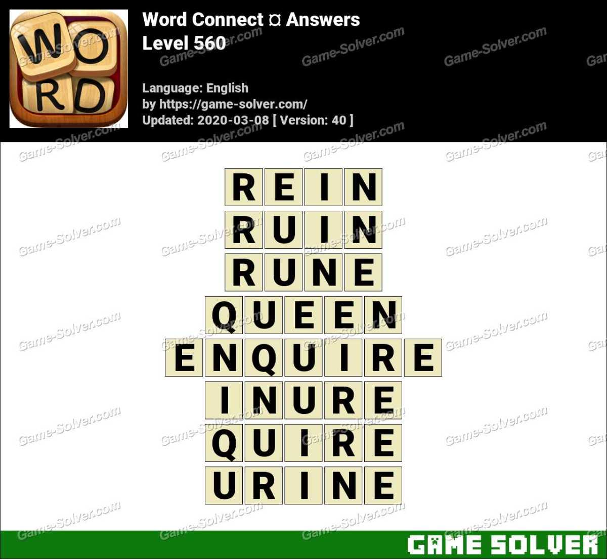Word Connect Level 560 Answers