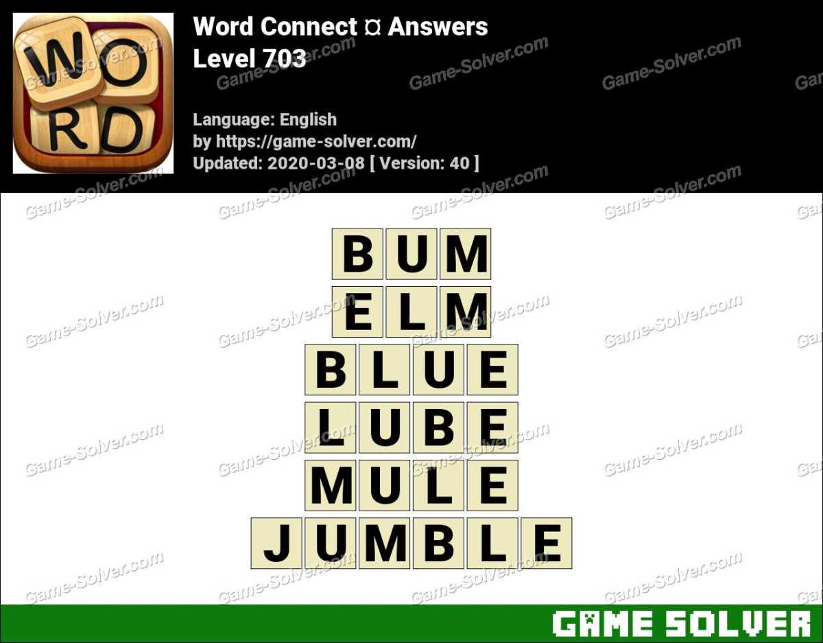 Word Connect Level 703 Answers