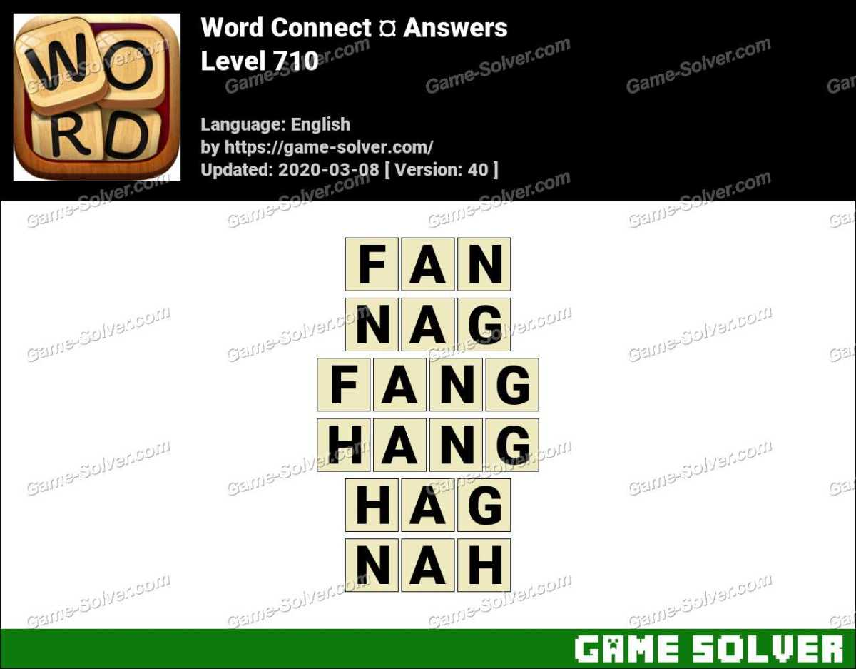 Word Connect Level 710 Answers