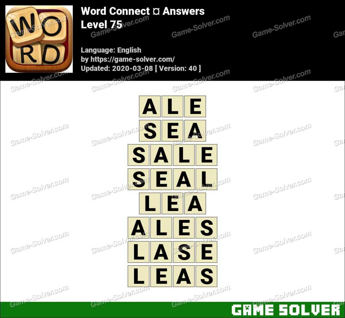 Word Connect Level 75 Answers