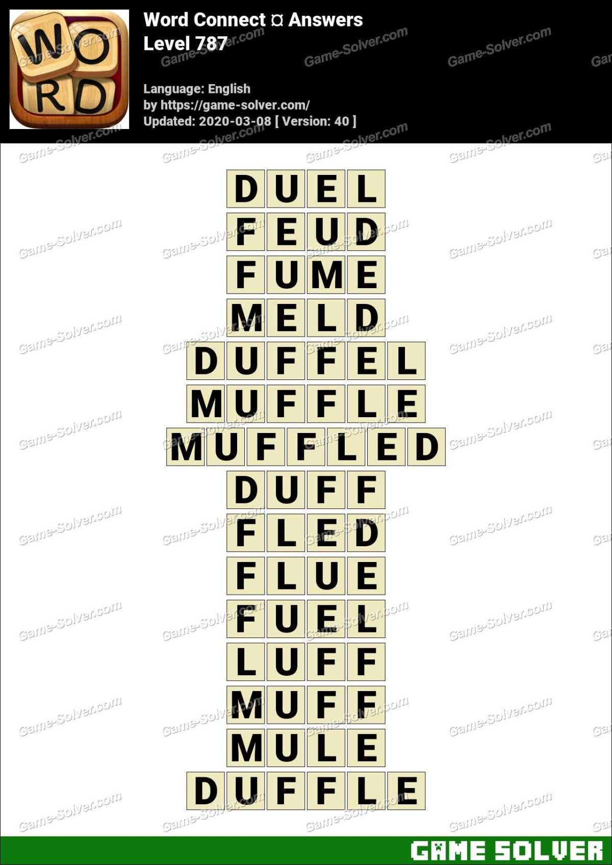 Word Connect Level 787 Answers