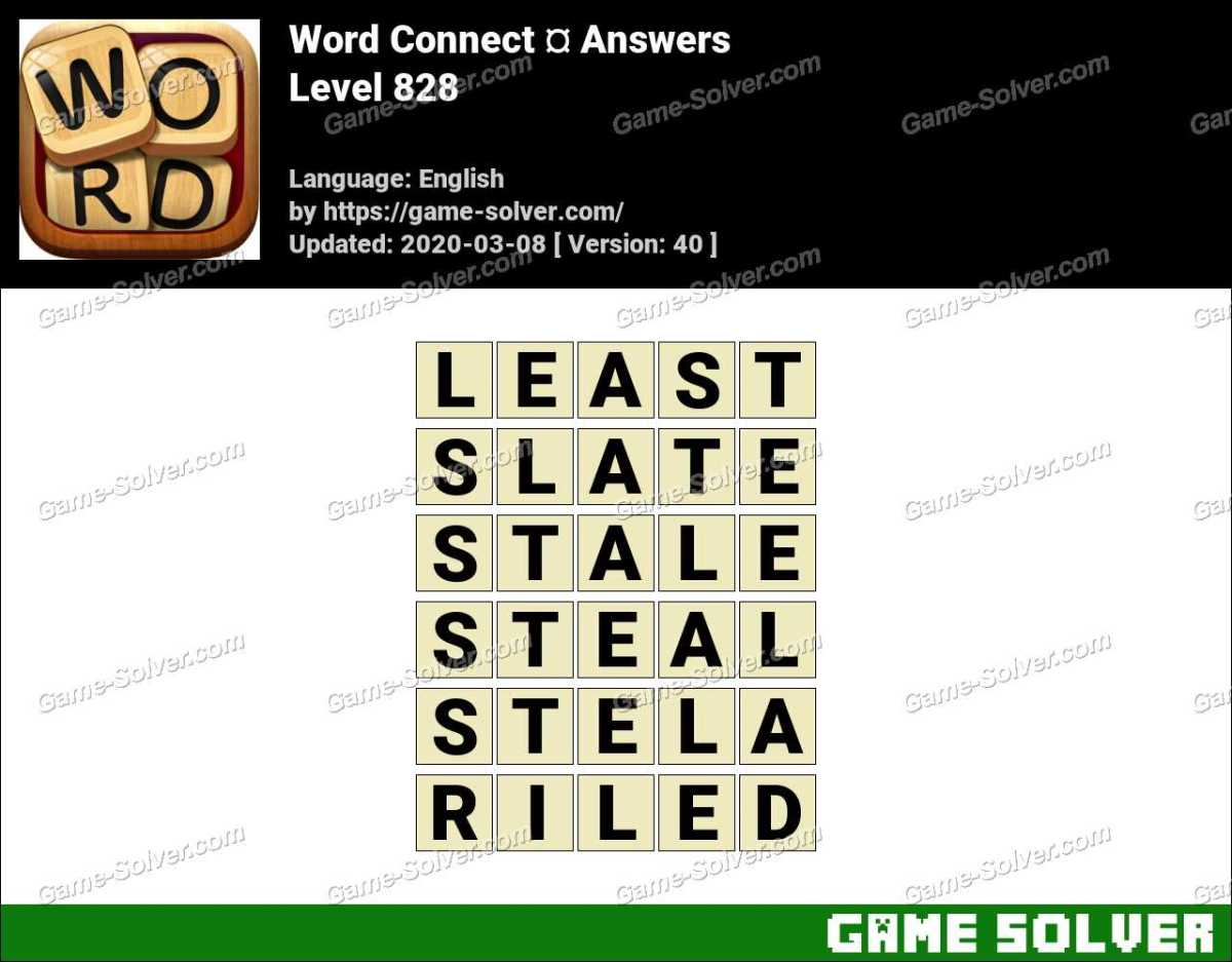 Word Connect Level 828 Answers