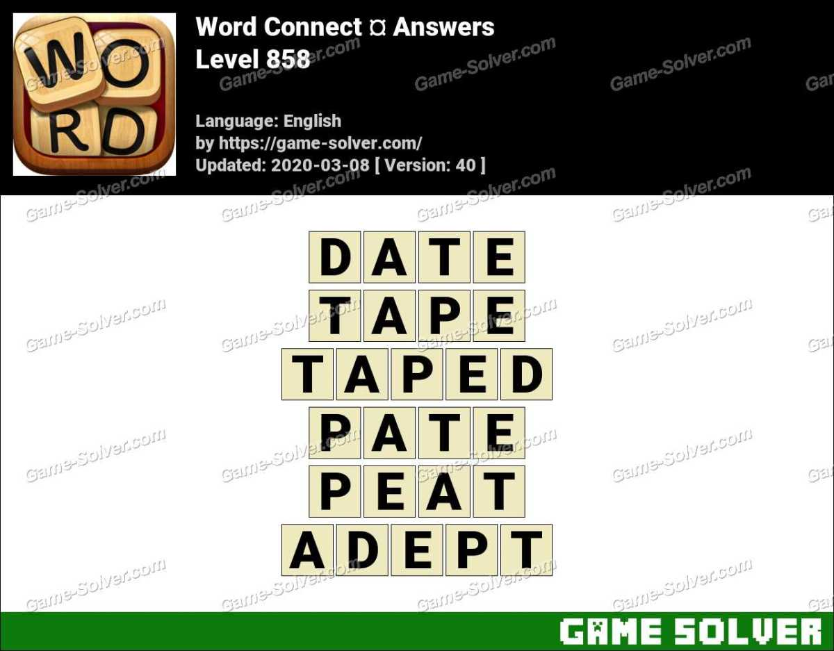 Word Connect Level 858 Answers