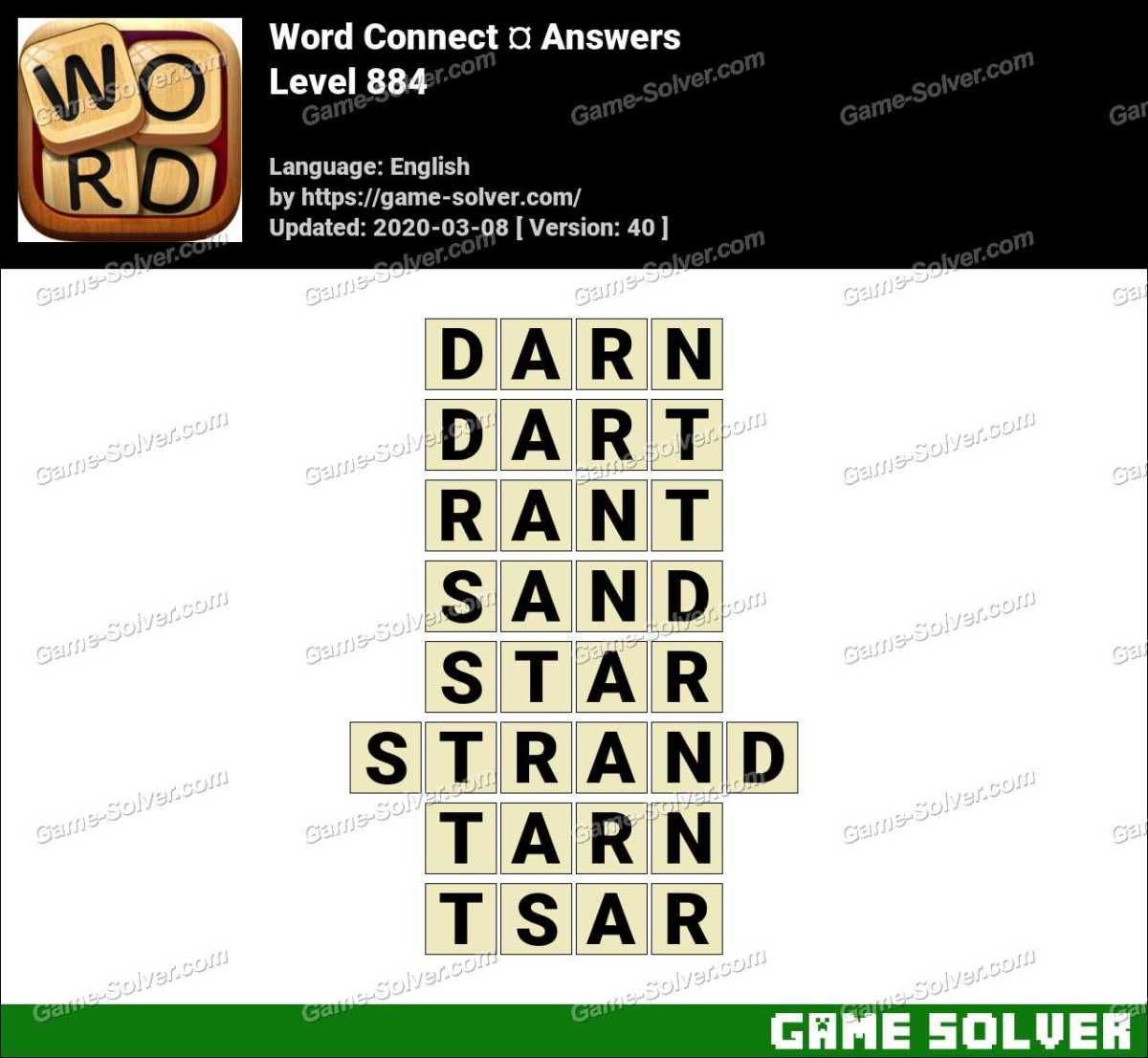 Word Connect Level 884 Answers