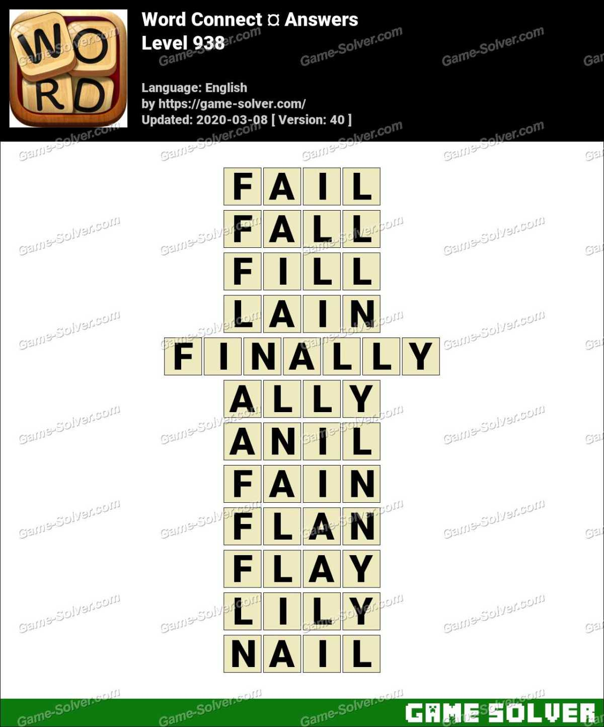 Word Connect Level 938 Answers