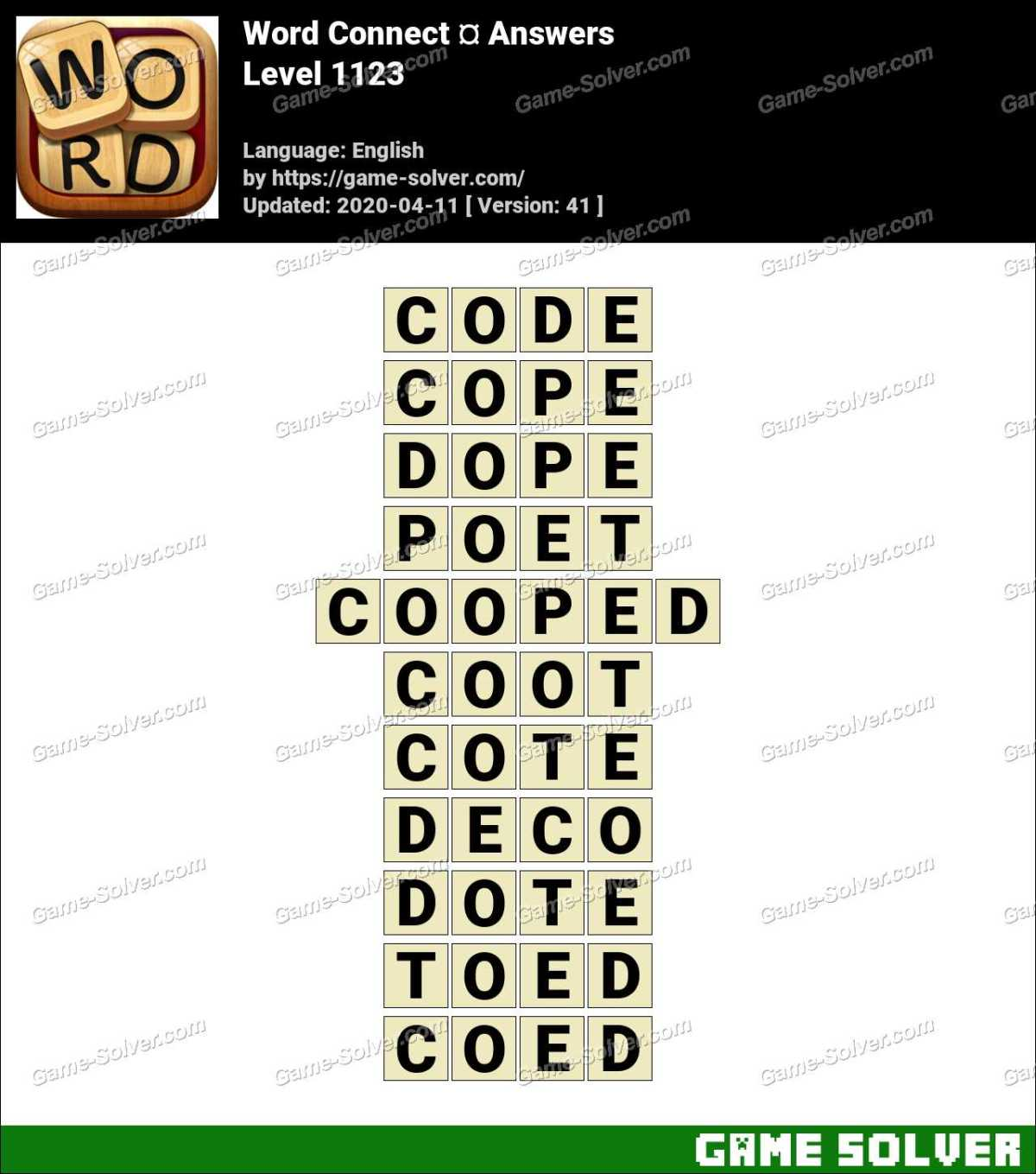 Word Connect Level 1123 Answers