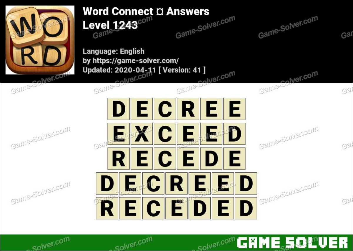 Word Connect Level 1243 Answers
