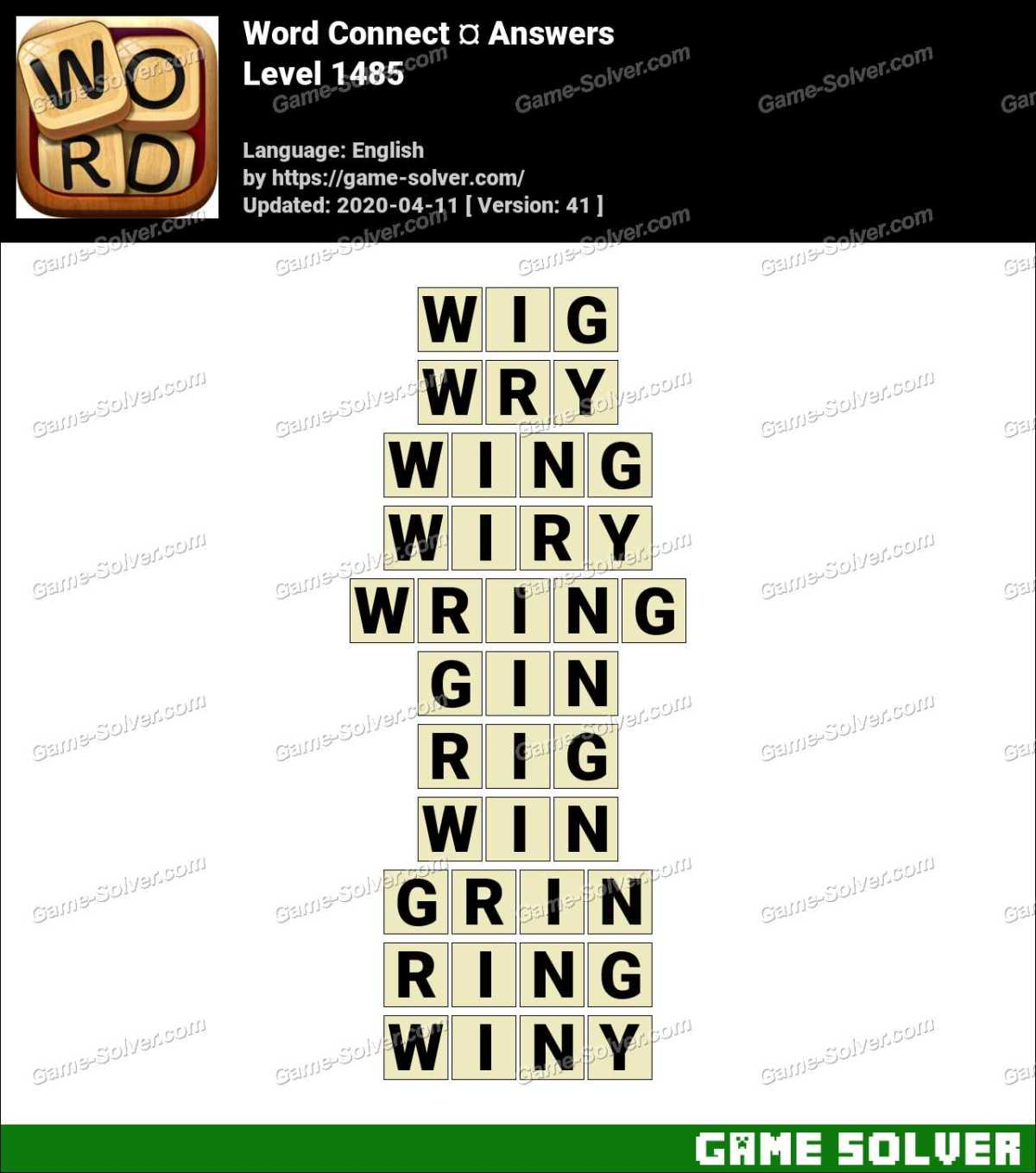 Word Connect Level 1485 Answers
