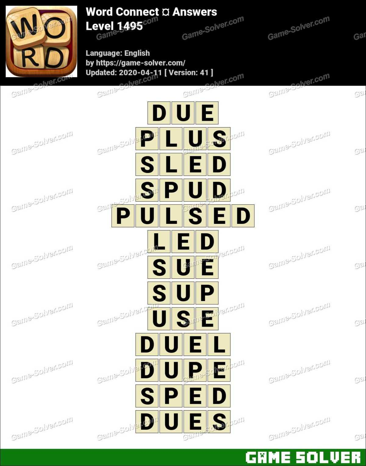 Word Connect Level 1495 Answers