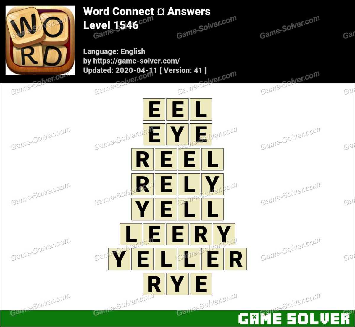 Word Connect Level 1546 Answers