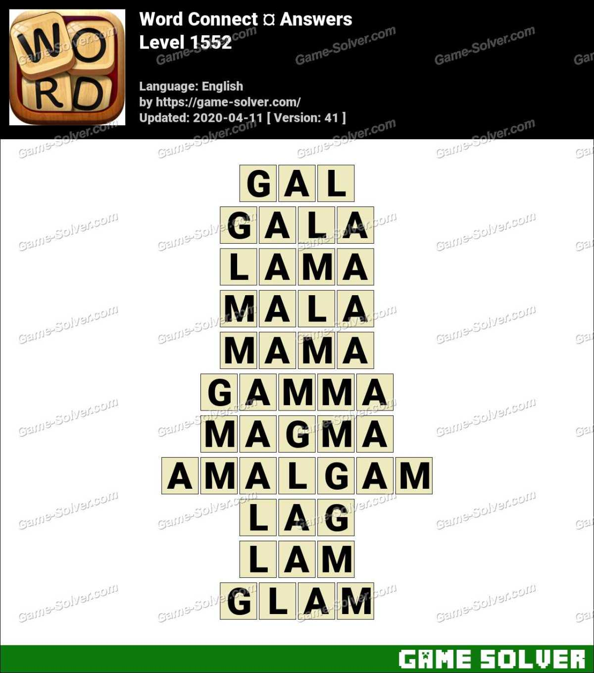 Word Connect Level 1552 Answers