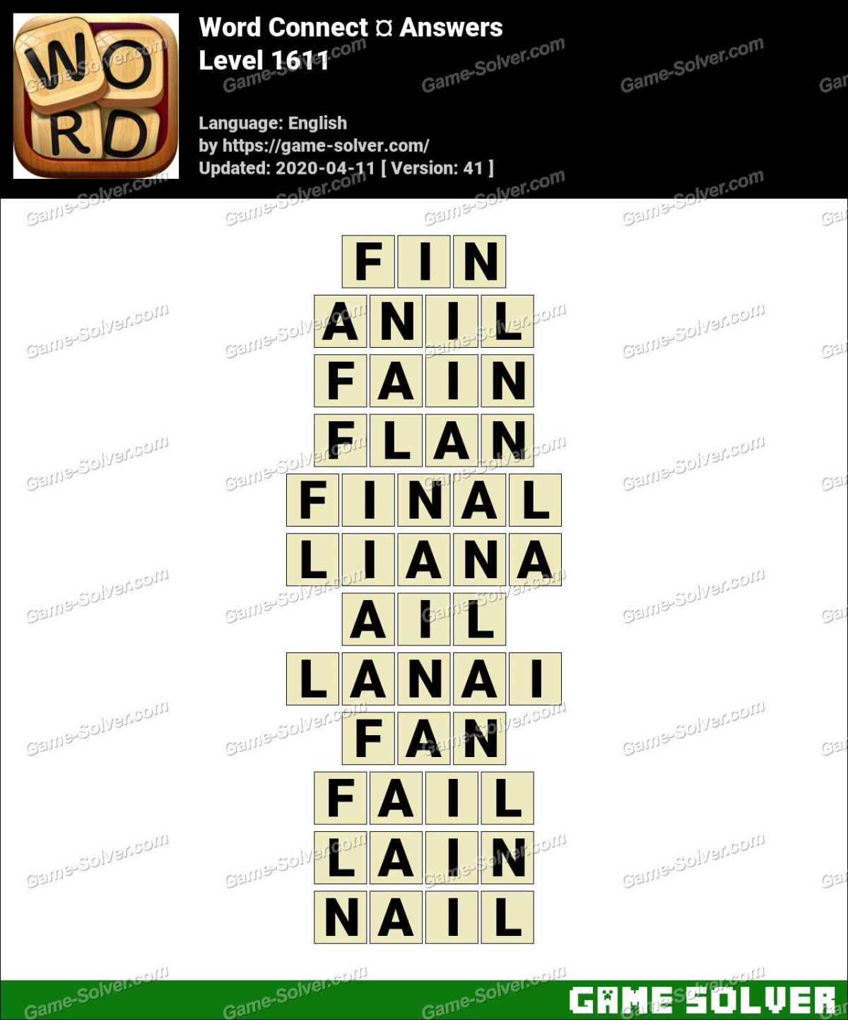 Word Connect Level 1611 Answers