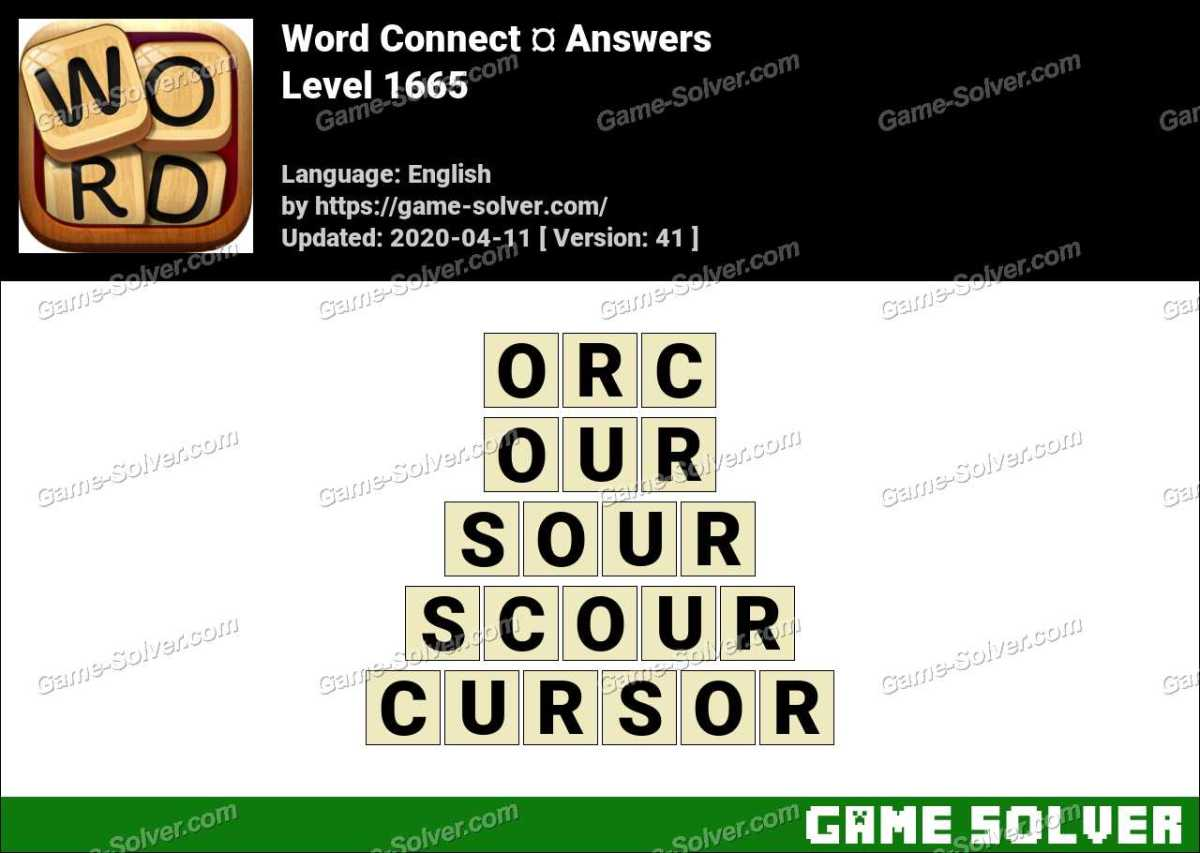 Word Connect Level 1665 Answers