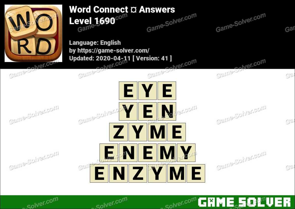 Word Connect Level 1690 Answers