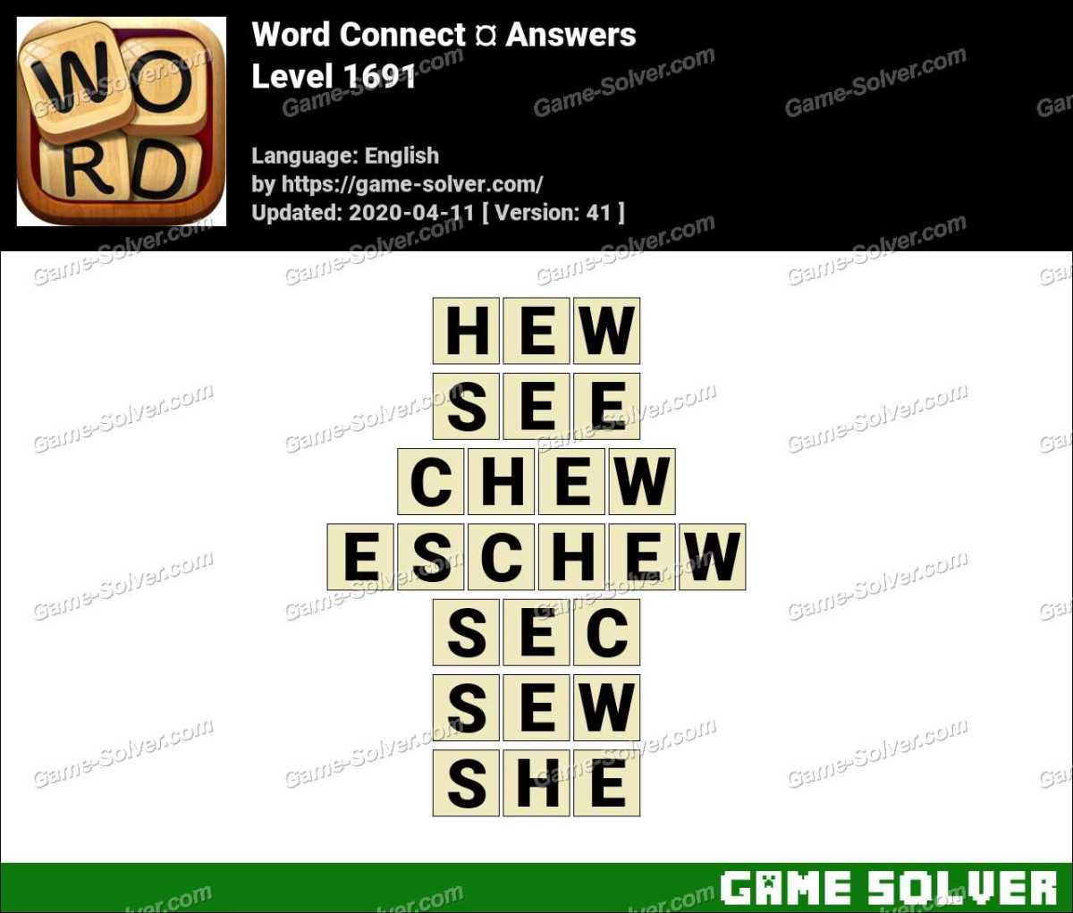 Word Connect Level 1691 Answers
