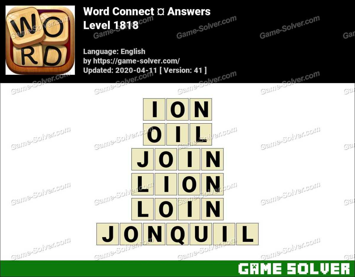 Word Connect Level 1818 Answers