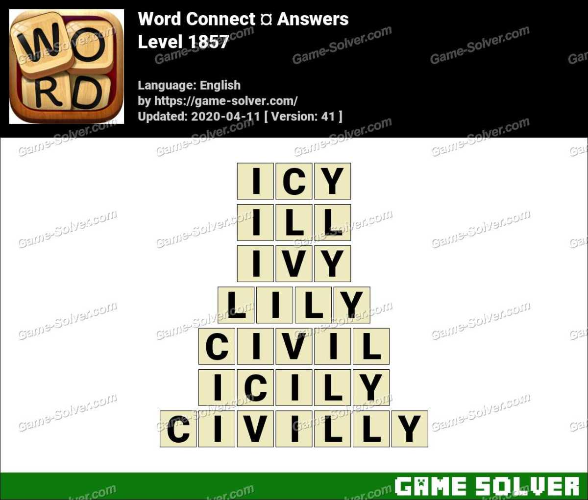 Word Connect Level 1857 Answers