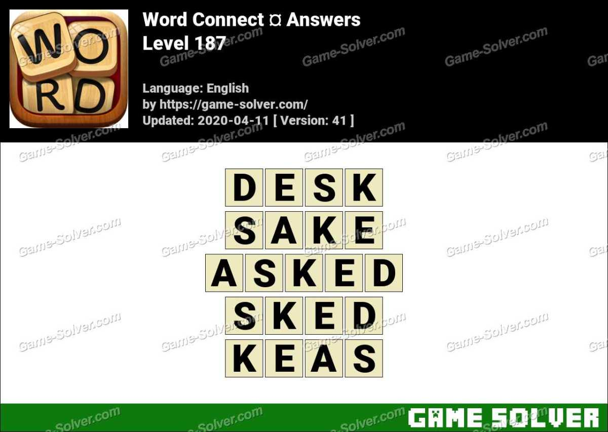 Word Connect Level 187 Answers
