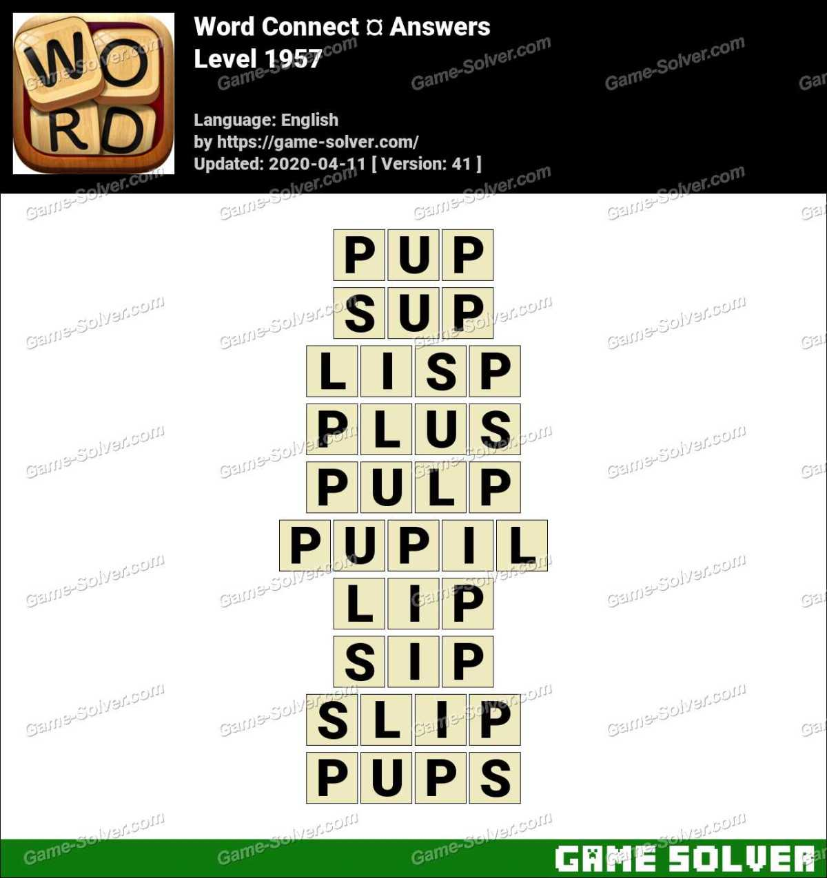 Word Connect Level 1957 Answers