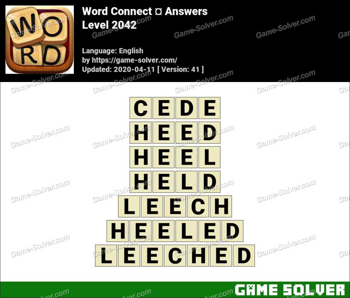 Word Connect Level 2042 Answers
