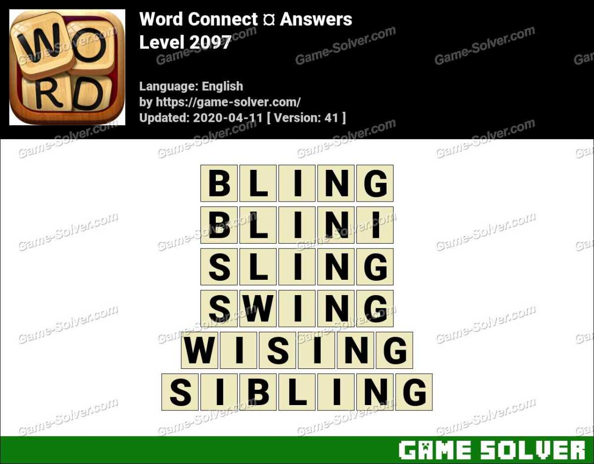 Word Connect Level 2097 Answers