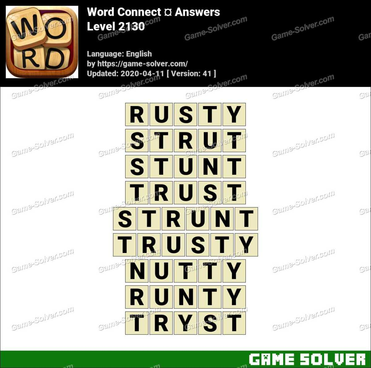Word Connect Level 2130 Answers