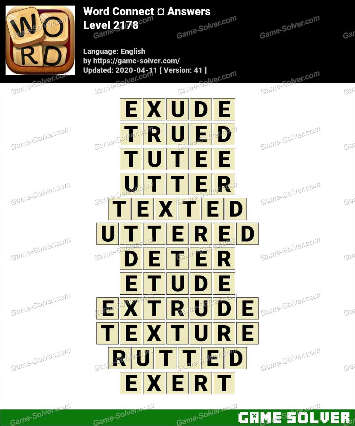 Word Connect Level 2178 Answers