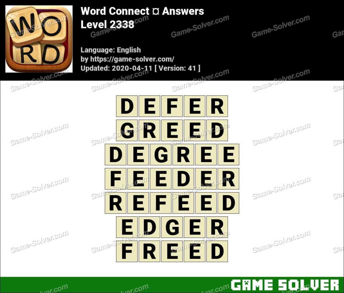 Word Connect Level 2338 Answers