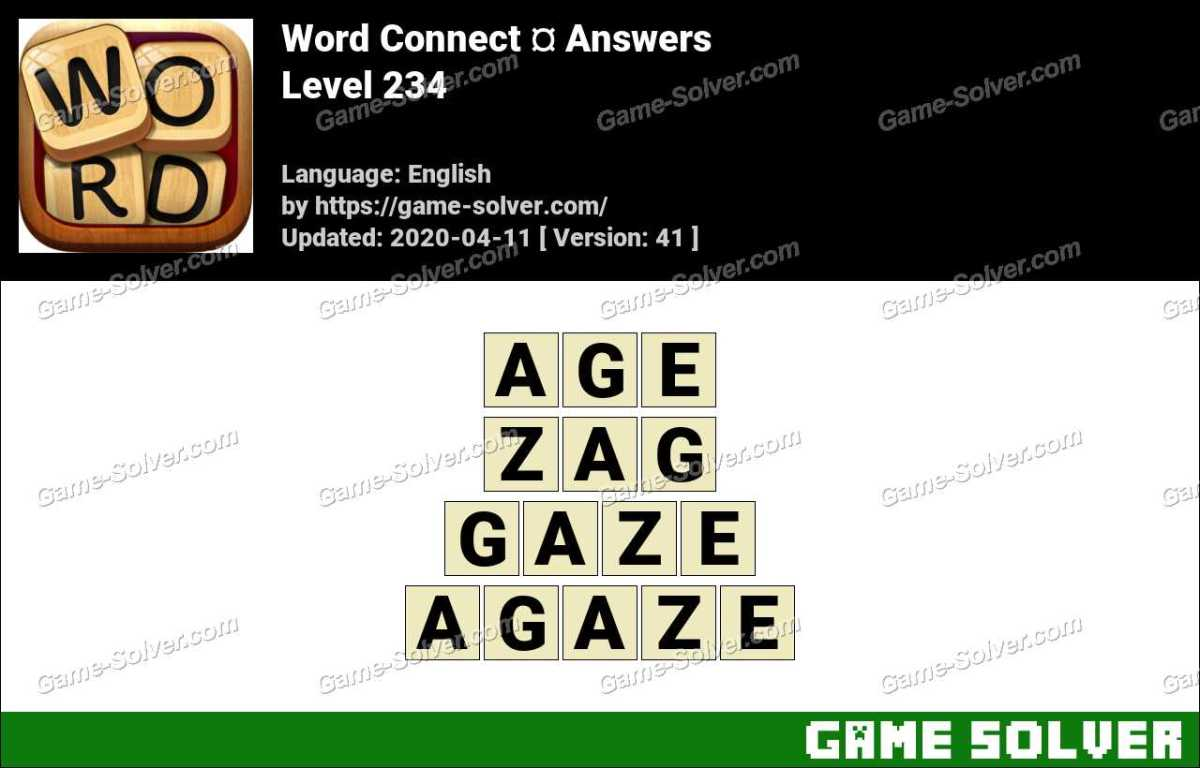 Word Connect Level 234 Answers