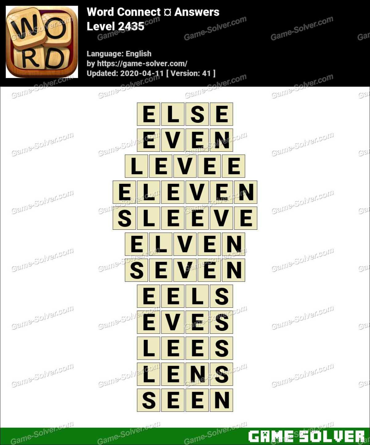 Word Connect Level 2435 Answers