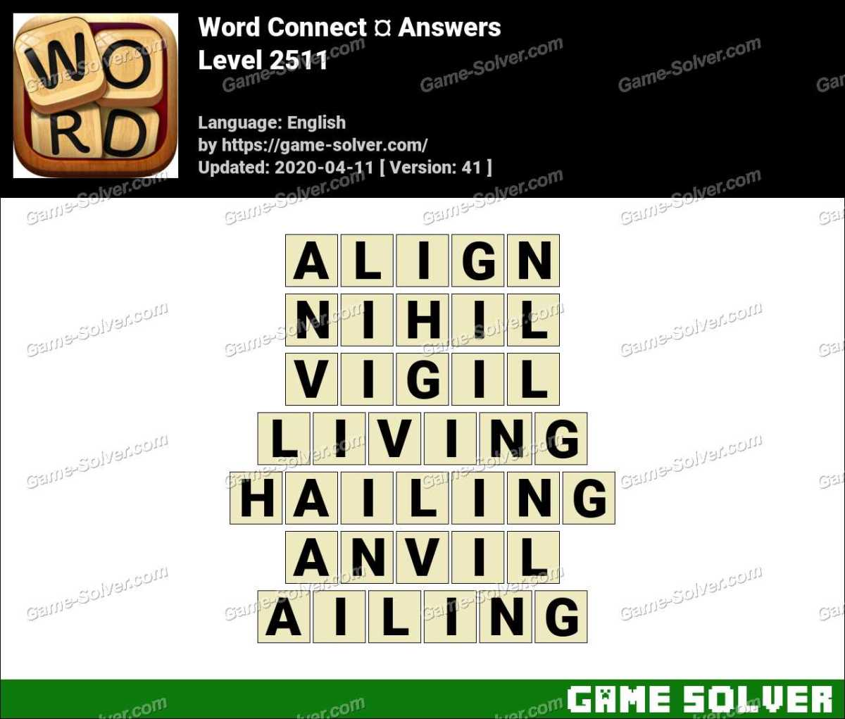 Word Connect Level 2511 Answers
