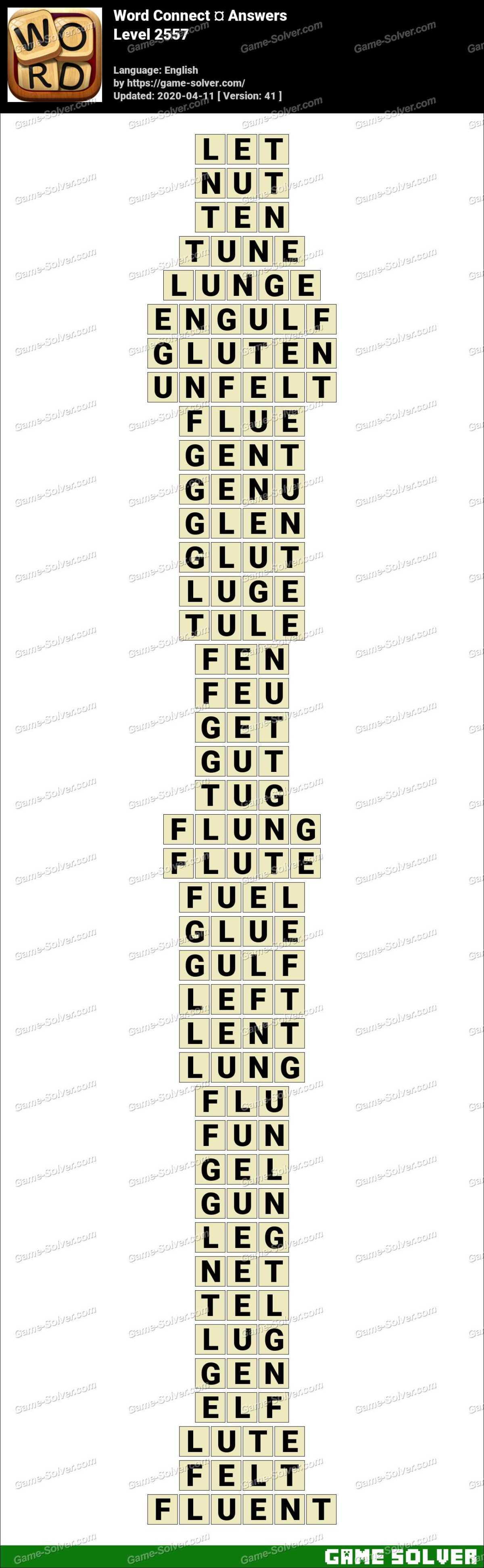 Word Connect Level 2557 Answers