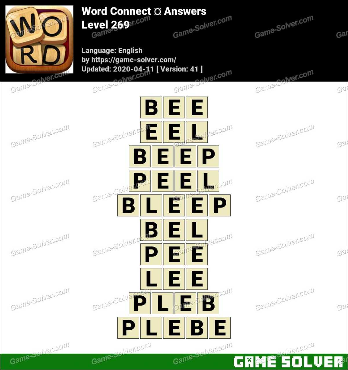 Word Connect Level 269 Answers