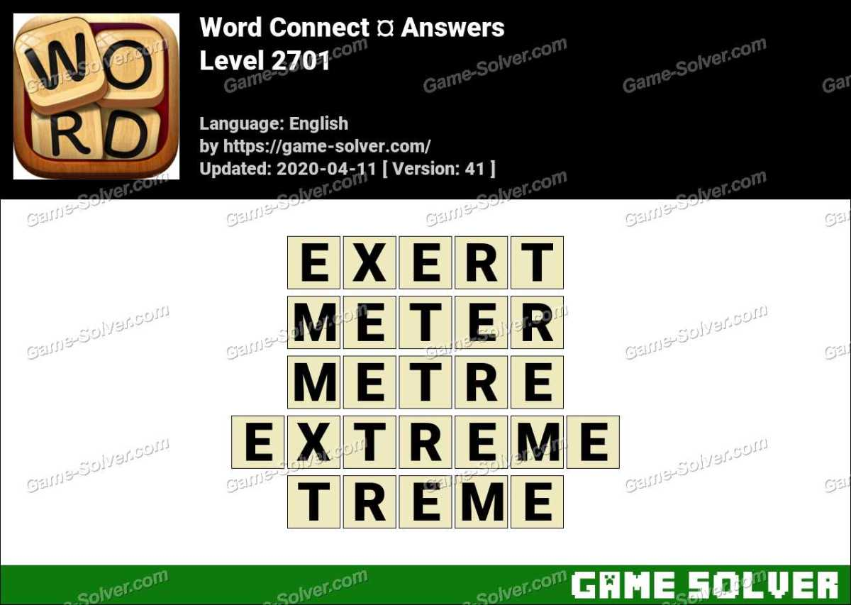 Word Connect Level 2701 Answers