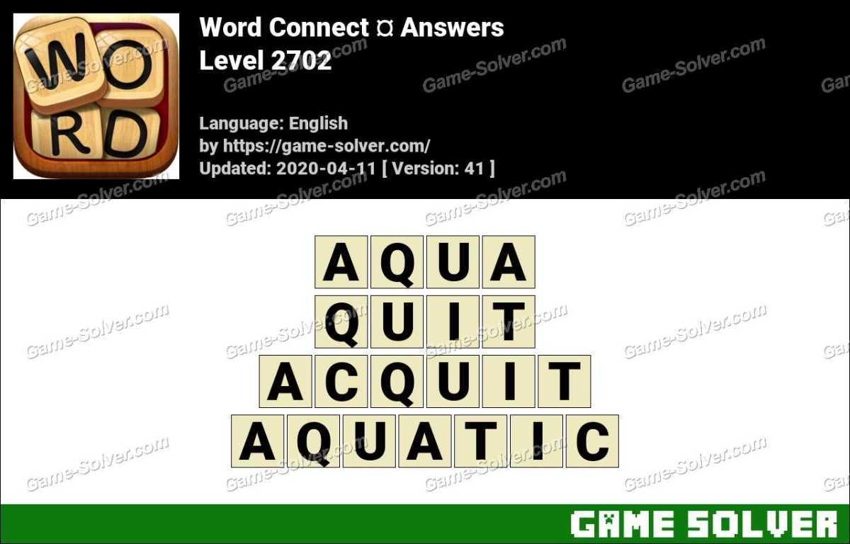 Word Connect Level 2702 Answers