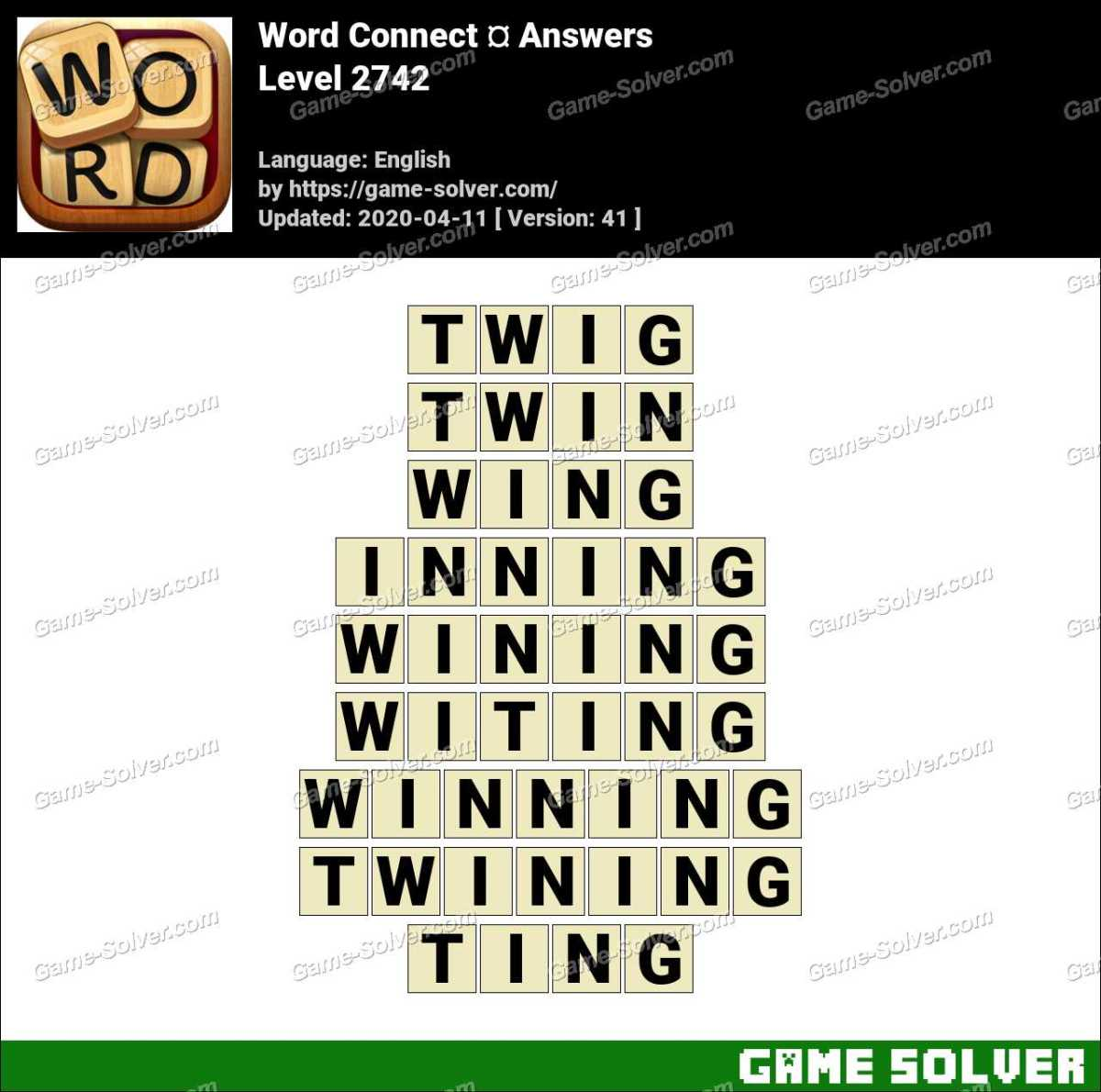 Word Connect Level 2742 Answers