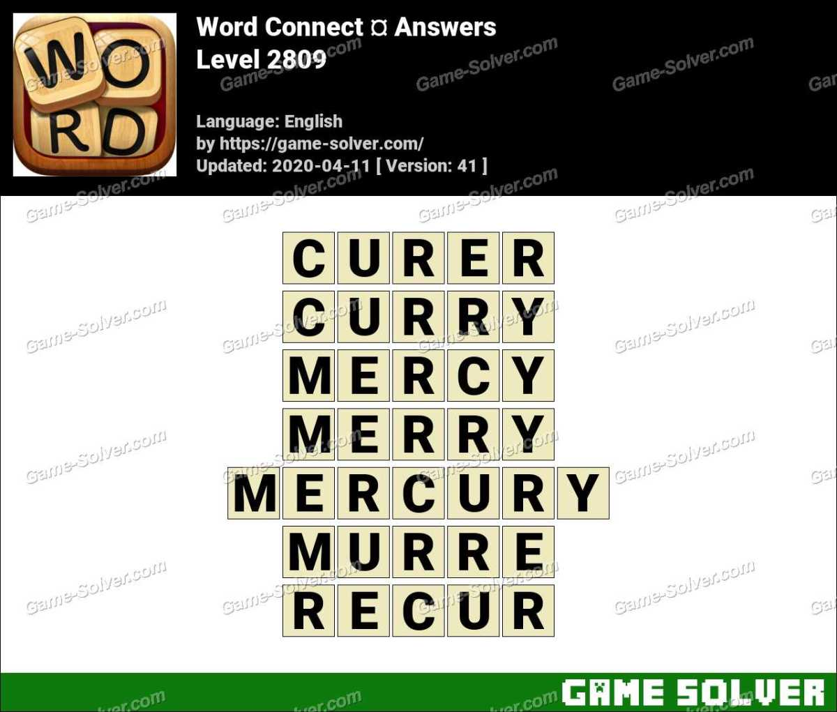 Word Connect Level 2809 Answers