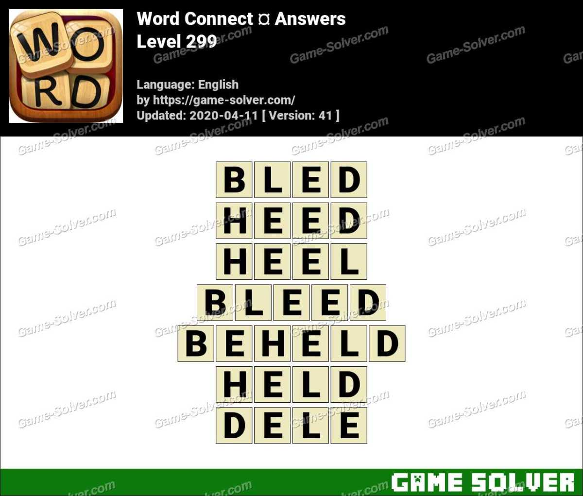 Word Connect Level 299 Answers