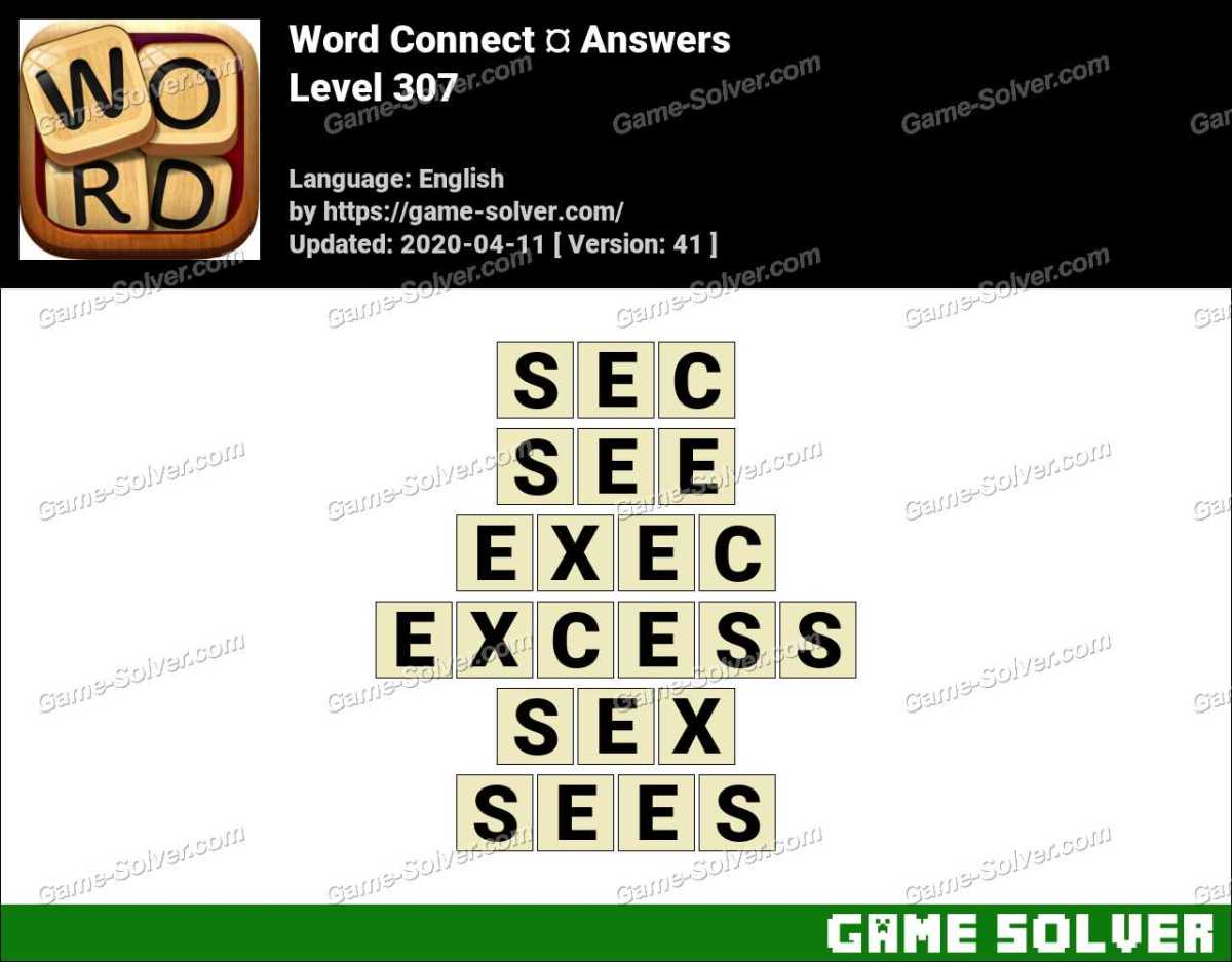 Word Connect Level 307 Answers